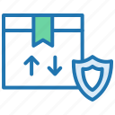 delivery, offer, package, product, security, shopping icon