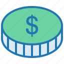 bank, coin, dollar, ecommerce, finance, money, payment icon