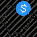finance, income, piggy bank, savings icon