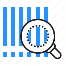 barcode, magnifier, product, search