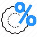 discount, label, percentage, sale icon