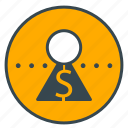account, bank, dollar, finance, money, savings icon