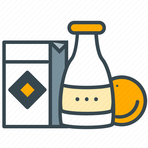 bottle, box, circle, goods, groceries, shopping icon