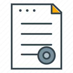 contract, document, finance, legal, stamp icon