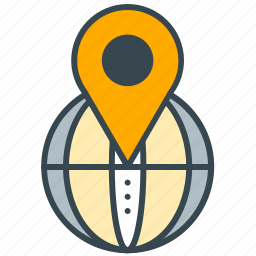 finance, global, location, pointer, shopping icon