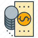 bill, cash, coin, dollar, finance, money, payment icon