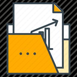 chart, document, finance, folder, report, statistics icon