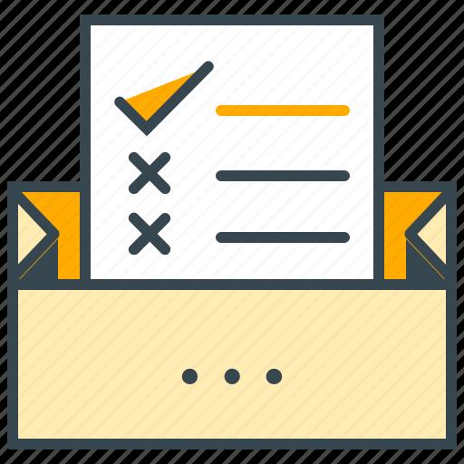 checklist, checkmark, finance, list, shopping icon
