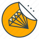 diamond, finance, price, shopping, sticker, value icon