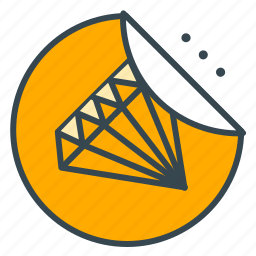 diamond, finance, price, shopping, sticker, value icon