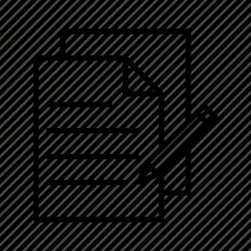 contactform, letter, list, pencil icon