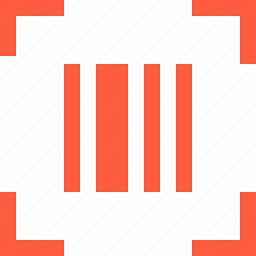 bar, barcode, box, code, label, scan icon