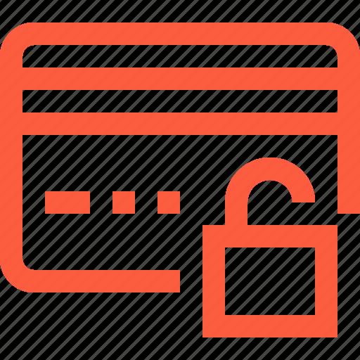 access, card, credit, open, purchase, unlock, unlocked icon