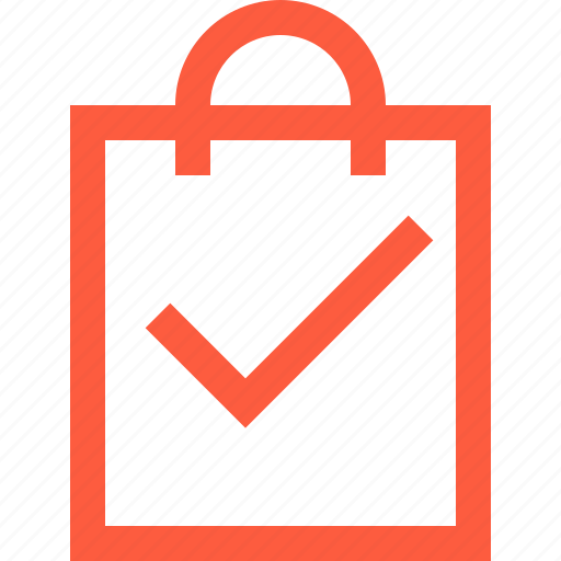 bag, buy, complete, done, purchase, sale, shopping, success icon