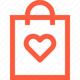 bag, eco, favorite, heart, like, product, shopping icon