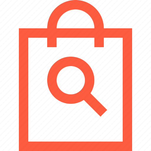bag, find, loupe, purchase, sale, search, shopping icon