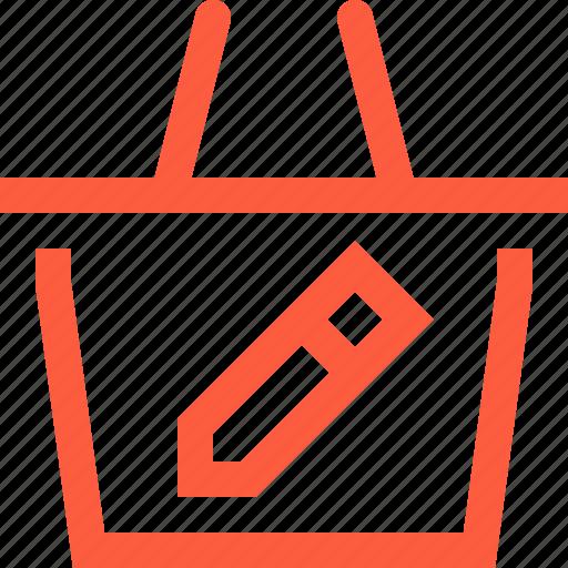 account, basket, change, customize, edit, shop, shopping icon
