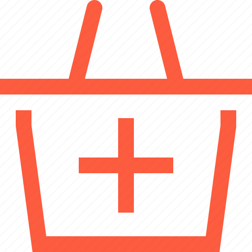 add, basket, create, increase, new, product, shopping icon