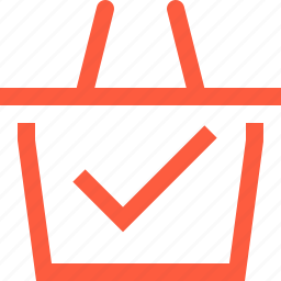 basket, complete, done, purchase, sale, shop, shopping, success icon