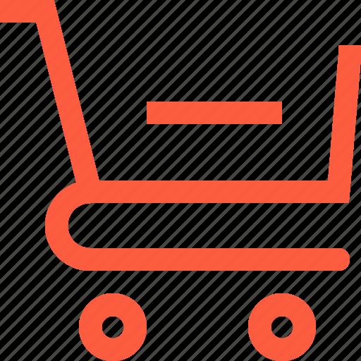 cart, decrease, delete, remove, sale, shopping, trolley icon