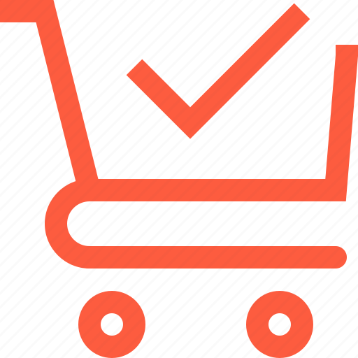 cart, complete, done, purchase, sale, shop, shopping, success, trolley icon