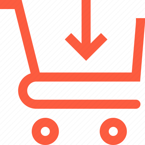 add, cart, download, product, shop, shopping, trolley icon