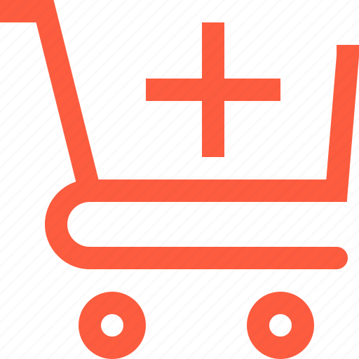 add, cart, create, increase, new, sale, shopping, trolley icon