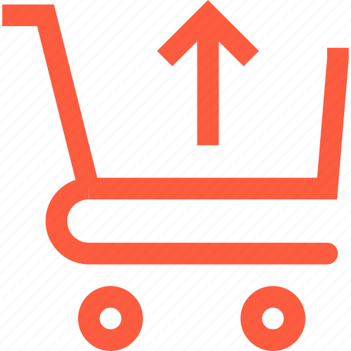 carriage, cart, remove, shopping, trolley, upload icon