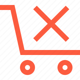 cancel, cart, error, shopping, trolley, wagon icon