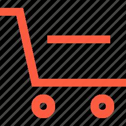 decrease, delete, pushcart, remove, shopping, wagon icon