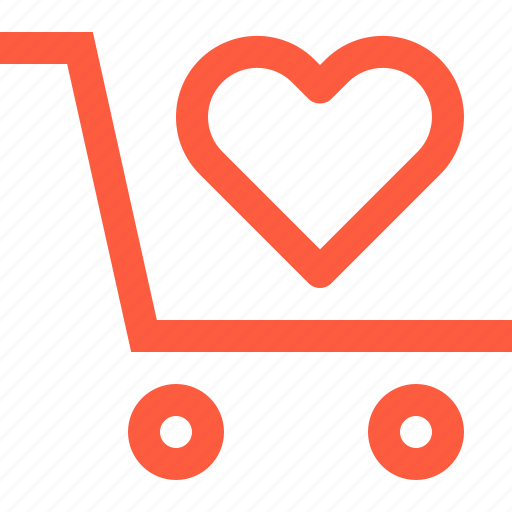 favorite, products, purchase, shopping, trolley, wagon icon