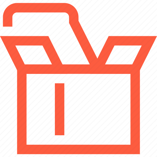box, carton, crate, delivery, open, parcel, shipping icon