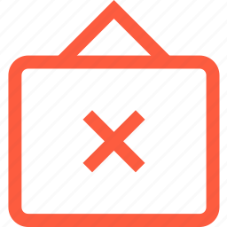 cancel, closed, error, shop, shopping, sign, store icon