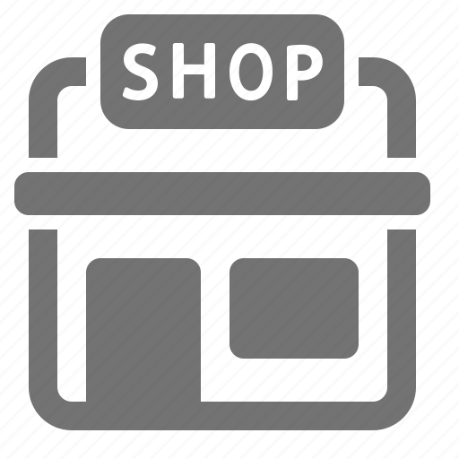 building, market, retail, shop, shopping, sign, store icon