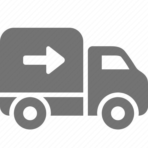 arrow, delivery, logistics, shipping, shopping, truck icon