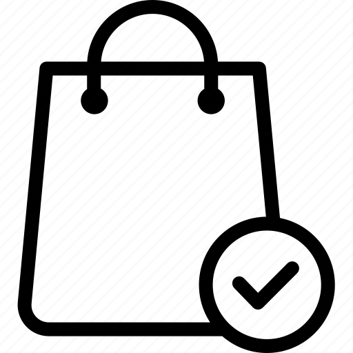 approved, bags, buy, ecommerce, shop, shopping, shopping bag icon