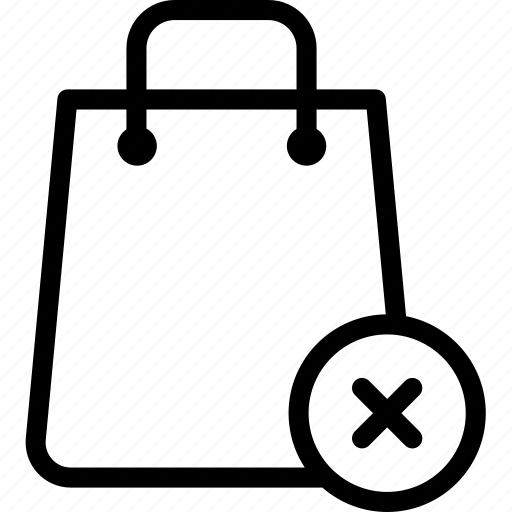 bags, buy, ecommerce, remove, shop, shopping, shopping bag icon