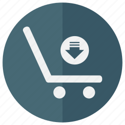 arrow, bag, basket, browse, business, buy, commerce, down, download, ecommerce, import, magazine, online, purchase, sall, sell, shop, shopping, store, supermarket, web shop, webshop icon