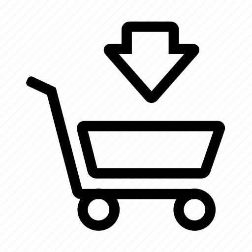 Arrow, buy, cart, completed, down, sell, shopping icon - Download on Iconfinder