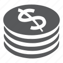 coin, coins, dollar, price, sale, shopping, tag icon