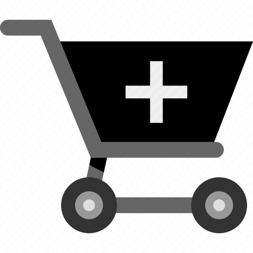 add, cart, plus, shopping icon