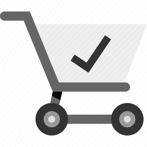 approved, cart, ecommerce, safe, secured, shopping icon