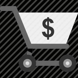 cart, dollar, shop, shopping, sign icon