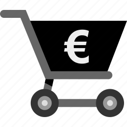 cart, euro, money, pay, sale, sign icon