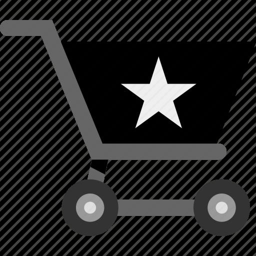 cart, favorite, shop, shopping, star icon