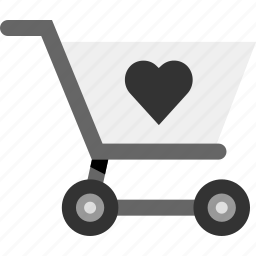 cart, favorite, heart, item, love, save icon