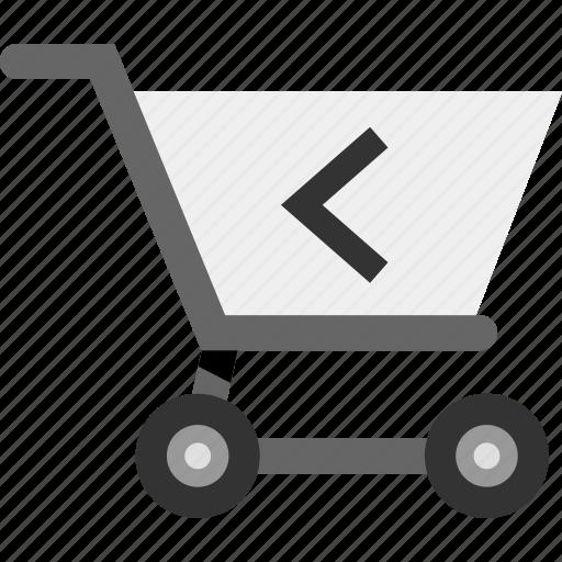 arrow, back, cart, left, point, rewind icon