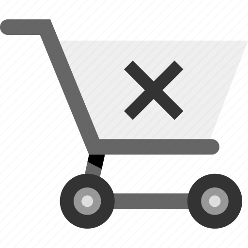 cart, delete, ecommerce, restore, shopping, stop icon