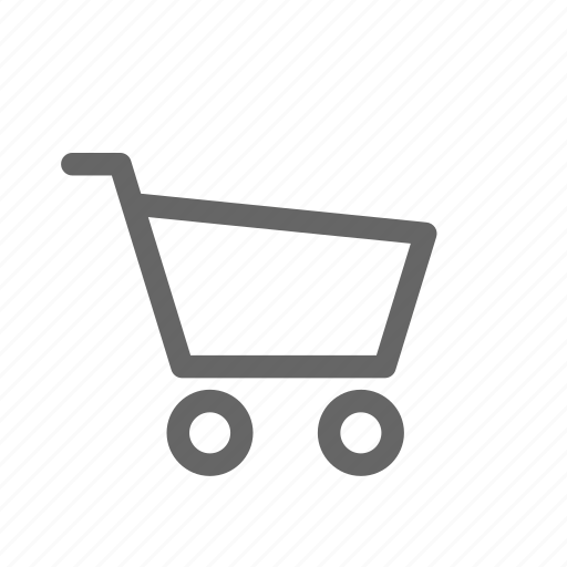 cart, outline, shopping icon
