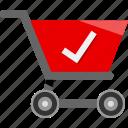 cart, check, ecommerce, mark, shopping icon